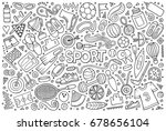 line art vector hand drawn... | Shutterstock .eps vector #678656104