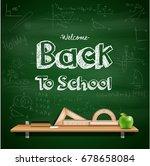 back to school background | Shutterstock . vector #678658084