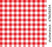 vector seamless tablecloth... | Shutterstock .eps vector #678658354