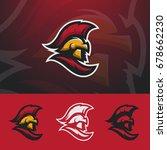 spartan logo design. warrior... | Shutterstock .eps vector #678662230