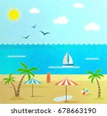beach scene | Shutterstock . vector #678663190