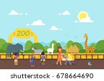 vector flat style illustration... | Shutterstock .eps vector #678664690