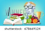 health and balance of life.... | Shutterstock .eps vector #678669124