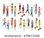 young vector people with... | Shutterstock .eps vector #678671260