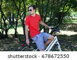 casual young man with... | Shutterstock . vector #678672550