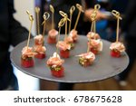 Parma Ham On Tuna Canapes On...