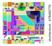 trendy geometrical vector... | Shutterstock .eps vector #678680770