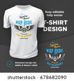 vintage american bikers club... | Shutterstock .eps vector #678682090