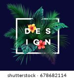 bright tropical background with ... | Shutterstock .eps vector #678682114