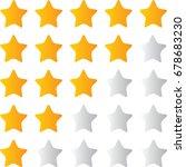 stars rating isolated on white... | Shutterstock .eps vector #678683230