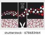alice in wonderland. set of... | Shutterstock .eps vector #678683464