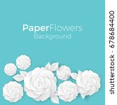 flowers background with paper... | Shutterstock .eps vector #678684400