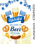 oktoberfest. welcome to beer... | Shutterstock .eps vector #678694354