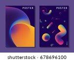 vector fluid curve shape in... | Shutterstock .eps vector #678696100