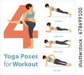 a set of yoga postures female... | Shutterstock .eps vector #678699100