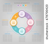 infographic template of... | Shutterstock .eps vector #678700420