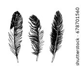 3 hand drawn black and white... | Shutterstock .eps vector #678701560