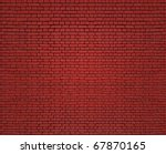 Fragment Of Red Brick Wall Of...