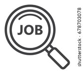 search job line icon  business...