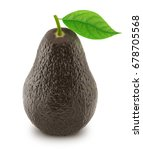 brown avocado with leaf... | Shutterstock . vector #678705568