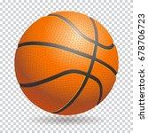 vector 3d basketball isolated... | Shutterstock .eps vector #678706723