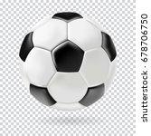 vector 3d football isolated... | Shutterstock .eps vector #678706750
