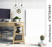 modern  interior   a place for... | Shutterstock . vector #678708484