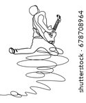 continuous line drawing of rock ...   Shutterstock .eps vector #678708964