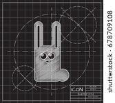 vector blueprint rabbit icon on ...   Shutterstock .eps vector #678709108