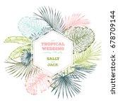 vintage wedding invitation.... | Shutterstock .eps vector #678709144