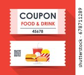 coupon food and drink ticket... | Shutterstock .eps vector #678711289