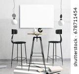 loft bar interior  consisting... | Shutterstock . vector #678711454
