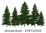 3d illustration trees row...   Shutterstock . vector #678712543