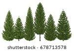 3d illustration trees row...   Shutterstock . vector #678713578