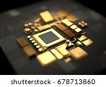 technology background with 24k... | Shutterstock . vector #678713860