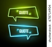 neon sign speech bubble. vector ... | Shutterstock .eps vector #678714904