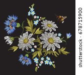 embroidery trend floral pattern ... | Shutterstock .eps vector #678715900