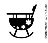baby high chair flat icon with... | Shutterstock .eps vector #678716080