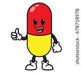 Pill Or Medicine Cartoon...