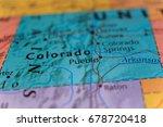colorado map | Shutterstock . vector #678720418