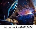 welder  craftsman  erecting... | Shutterstock . vector #678722674