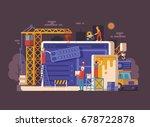website under construction... | Shutterstock .eps vector #678722878