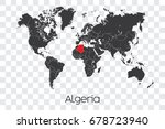 a map of the world with the... | Shutterstock . vector #678723940
