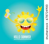 hello summer rock n roll vector ... | Shutterstock .eps vector #678724900