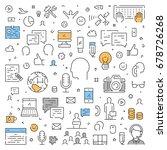 line web concept for public... | Shutterstock .eps vector #678726268