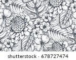 vector seamless pattern with... | Shutterstock .eps vector #678727474