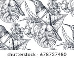 vector seamless pattern with... | Shutterstock .eps vector #678727480
