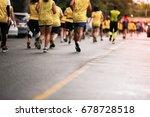 marathon running in morning... | Shutterstock . vector #678728518