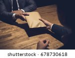 businessman giving money in the ... | Shutterstock . vector #678730618
