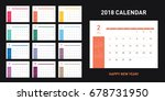 colorful calendar layout for... | Shutterstock .eps vector #678731950